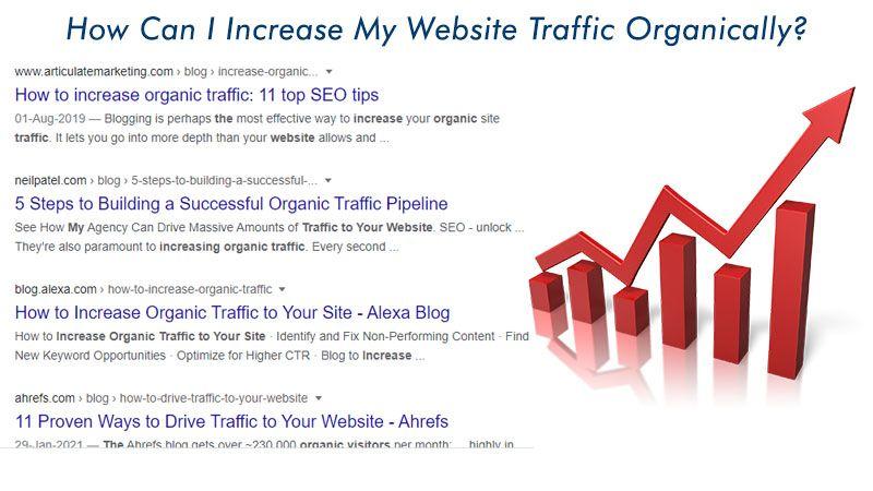 increase website traffic organically