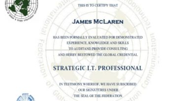 The world's first Strategic IT Professional Certification by IFGICT