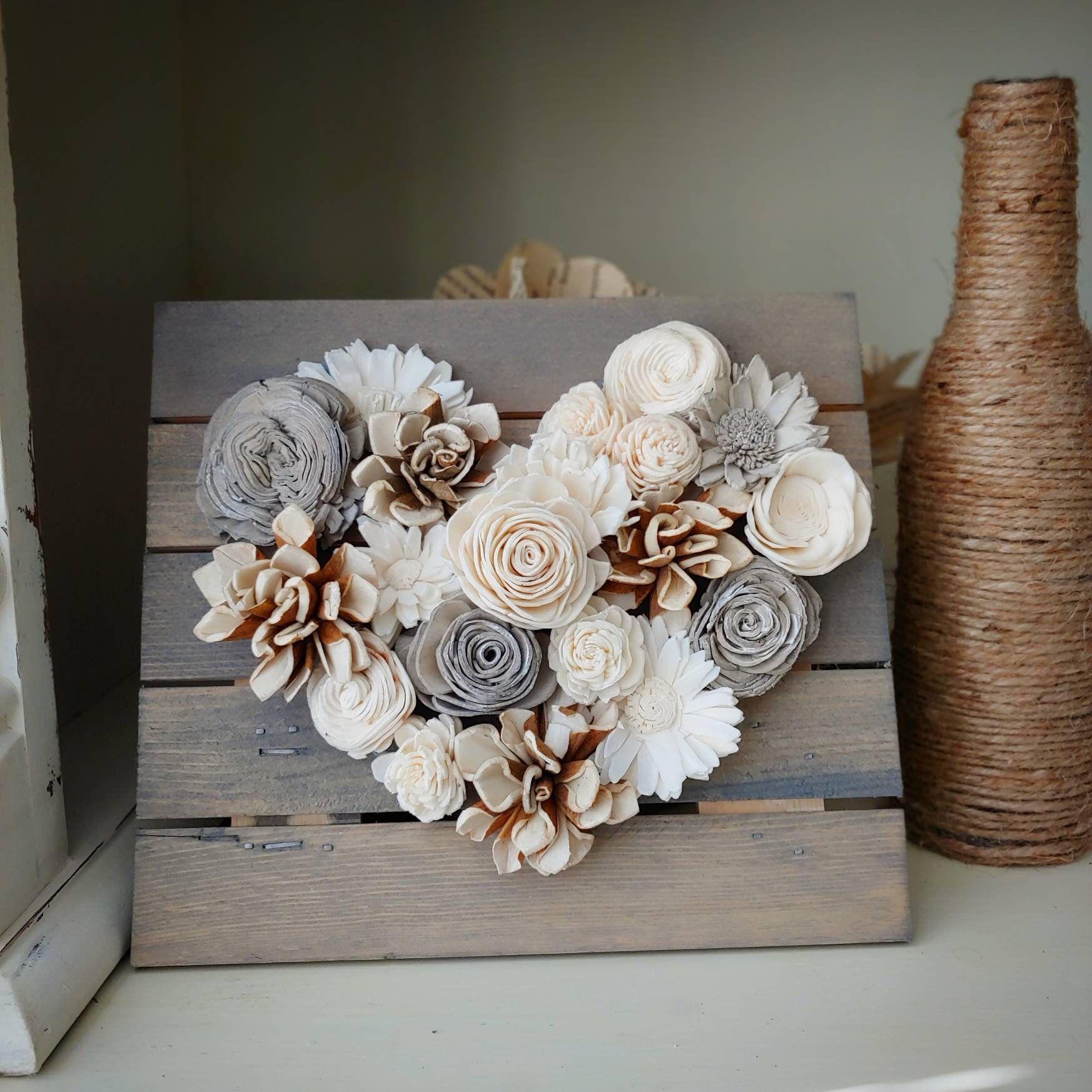 sola wood flower home décor