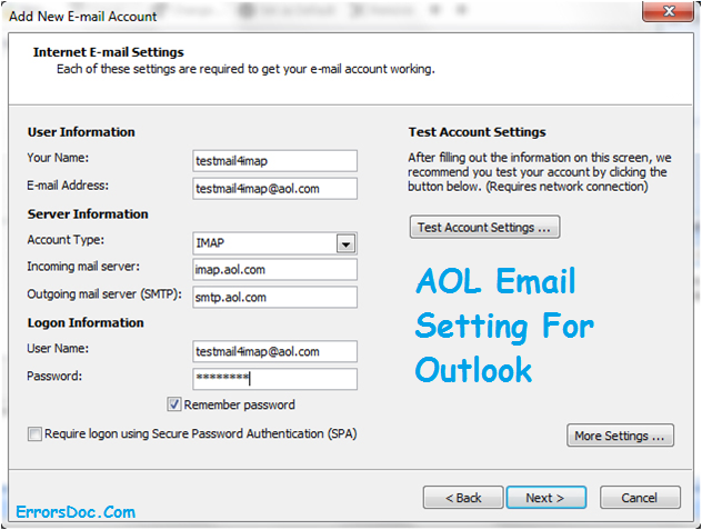 AOL-Email-Setting-For-Outlook