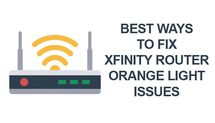 Xfinity Router orange light