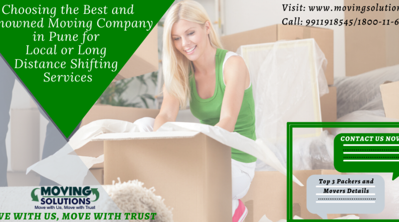 Choosing the Best and Renowned Moving Company in Pune