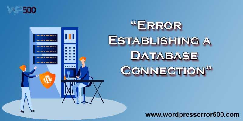 error, establishing a database connection
