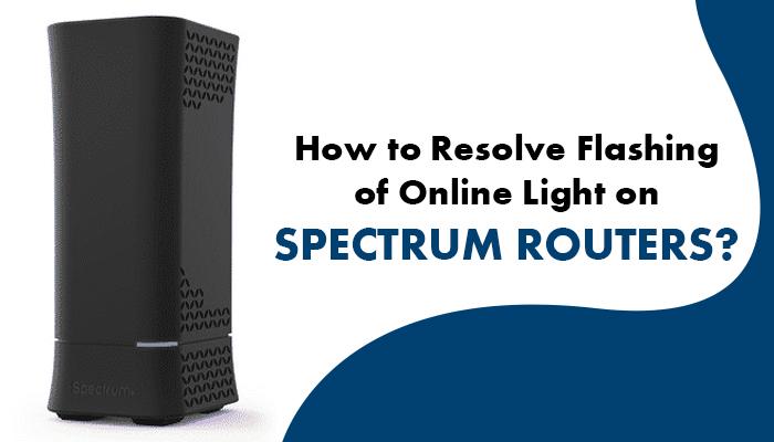 spectrum modem online light flashing