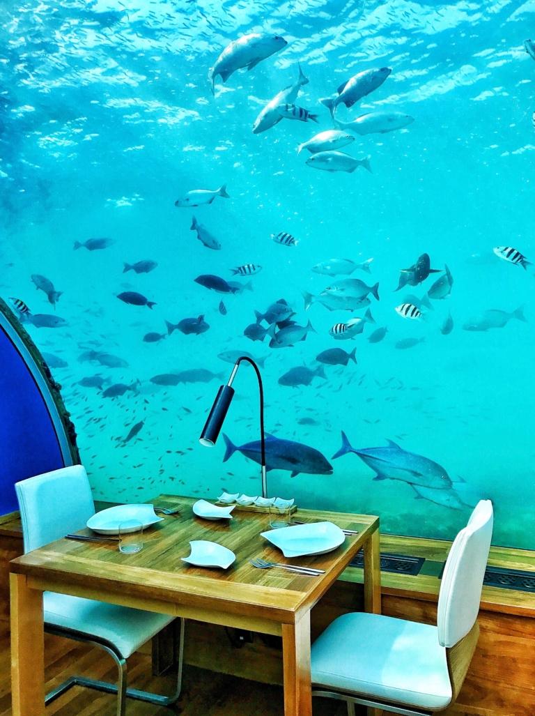 underwater Maldives restaurants