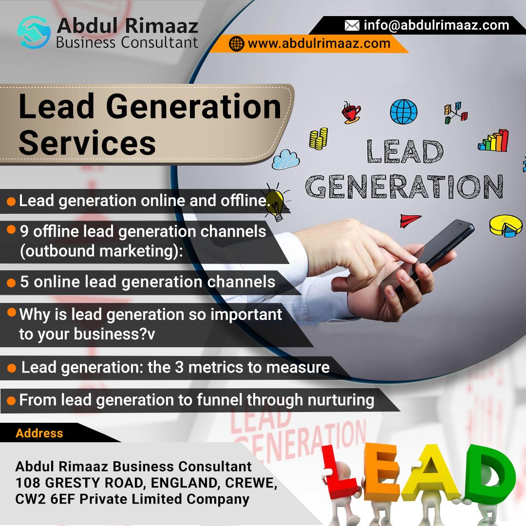 Abdul Rimaaz Lead generation