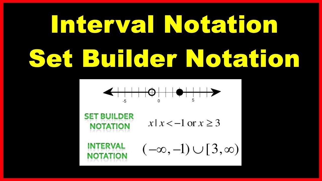 Interval Notation ideas