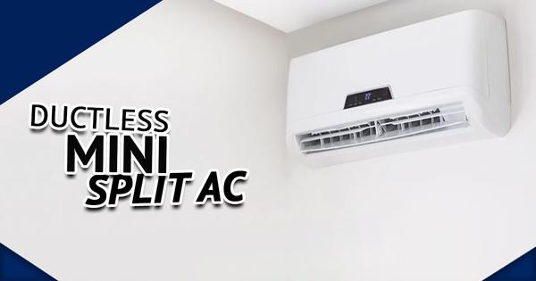 Split ductless AC installation