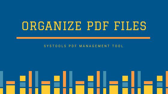 organize PDF files