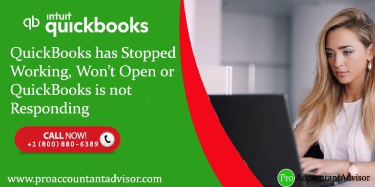 QuickBooks Desktop Won't Open Error