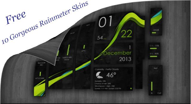 Gorgeous Rainmeter Skins free