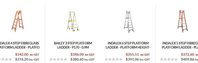 industrial platform ladder