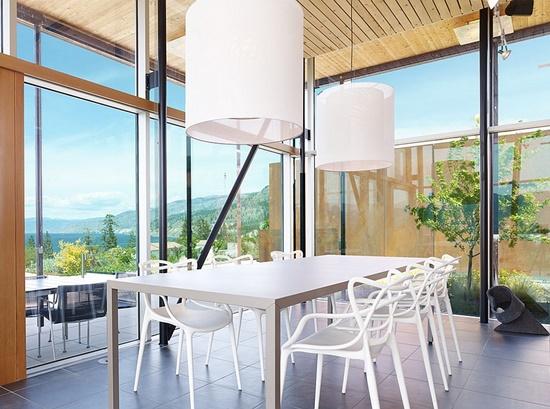 Plastic furniture at home