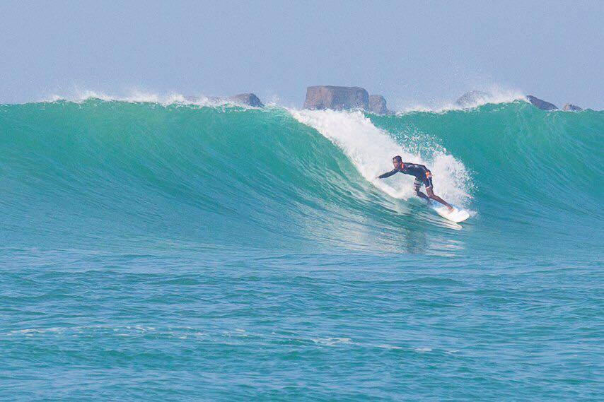 Surfing in Weligama Sri Lanka