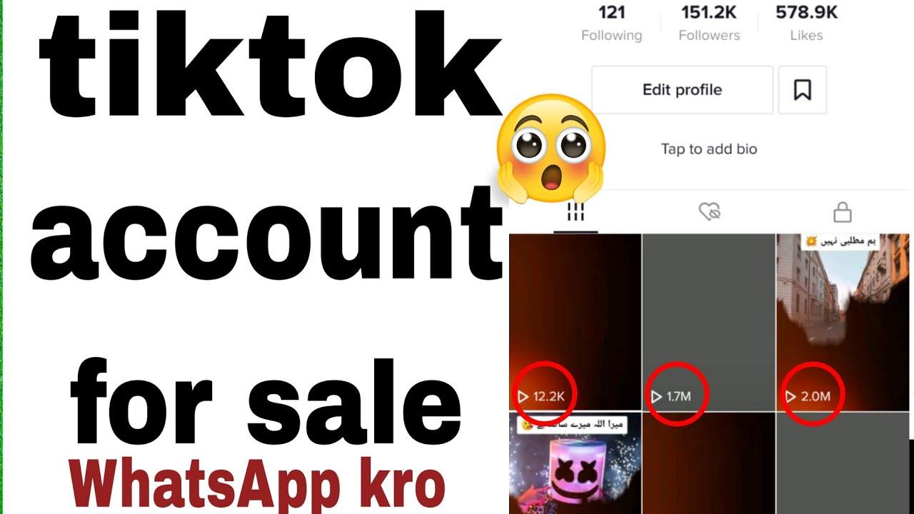 TikTok account for sale