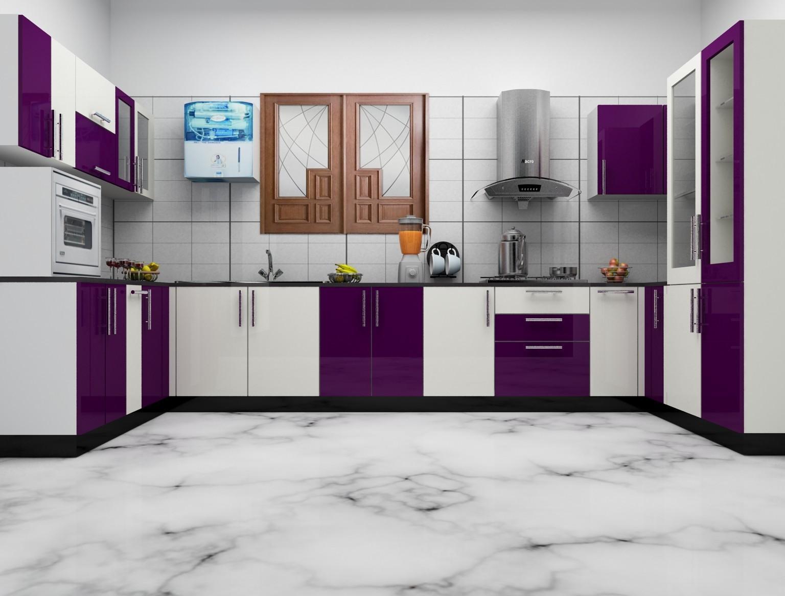 Trendy And Unique Small Modular Kitchen