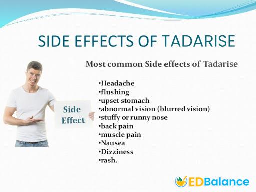 tadarise side effect