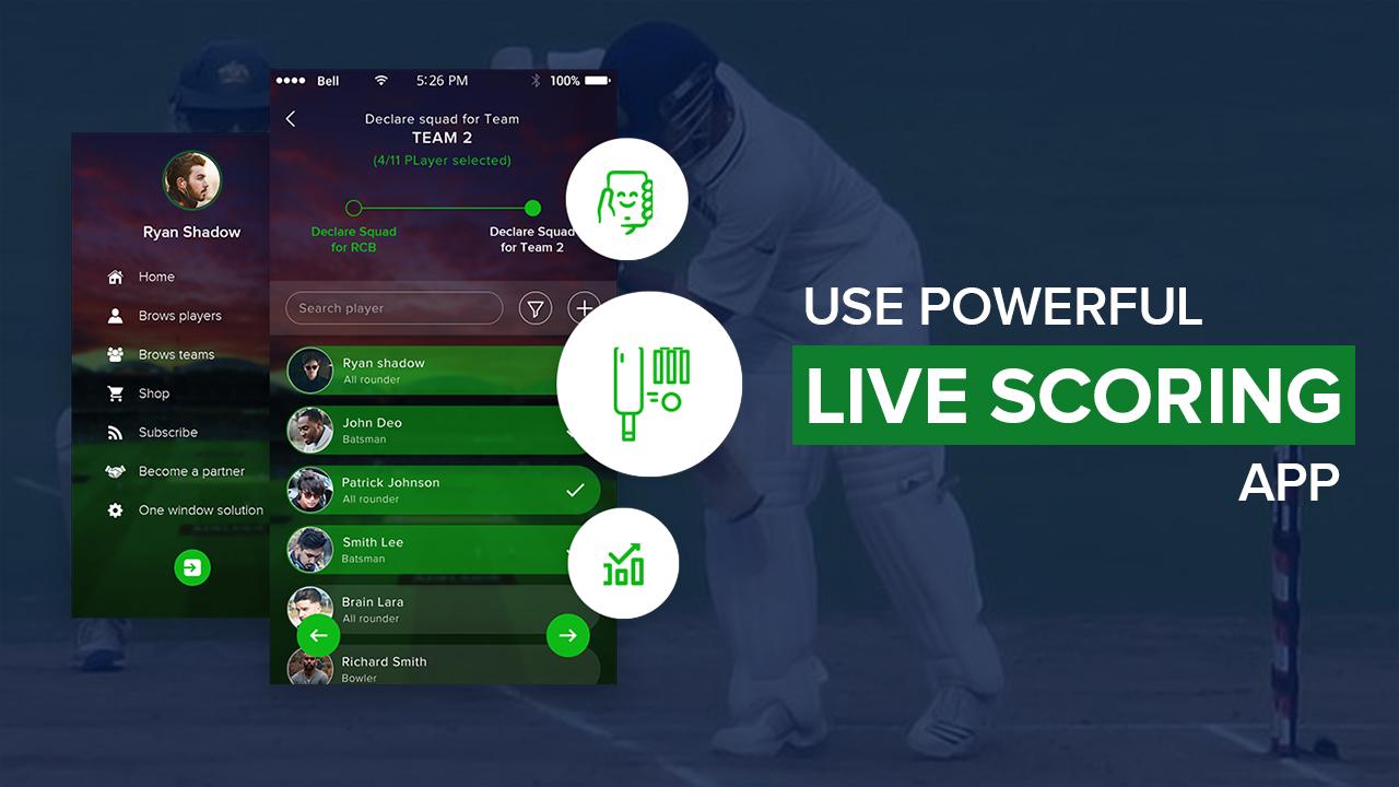 Use Powerful Live Scoring App