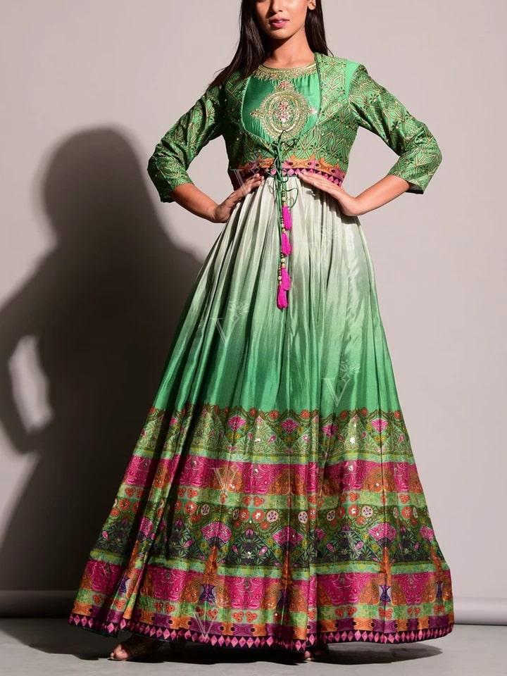 Anarkali Suits Online: Walk Like a Princess in Green Anarkali Gown