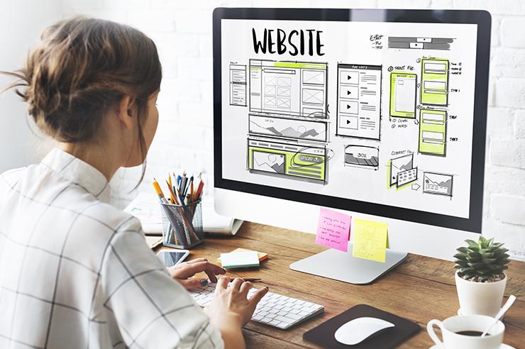 Web design in HTML platform