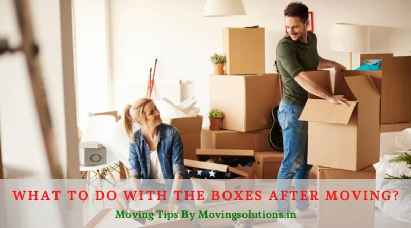 What to Do With the Boxes after Moving