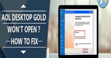 aol desktop gold won't open