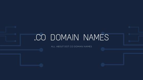 .co domain names