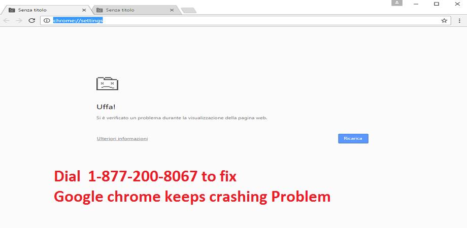 google chrome keeps crashing