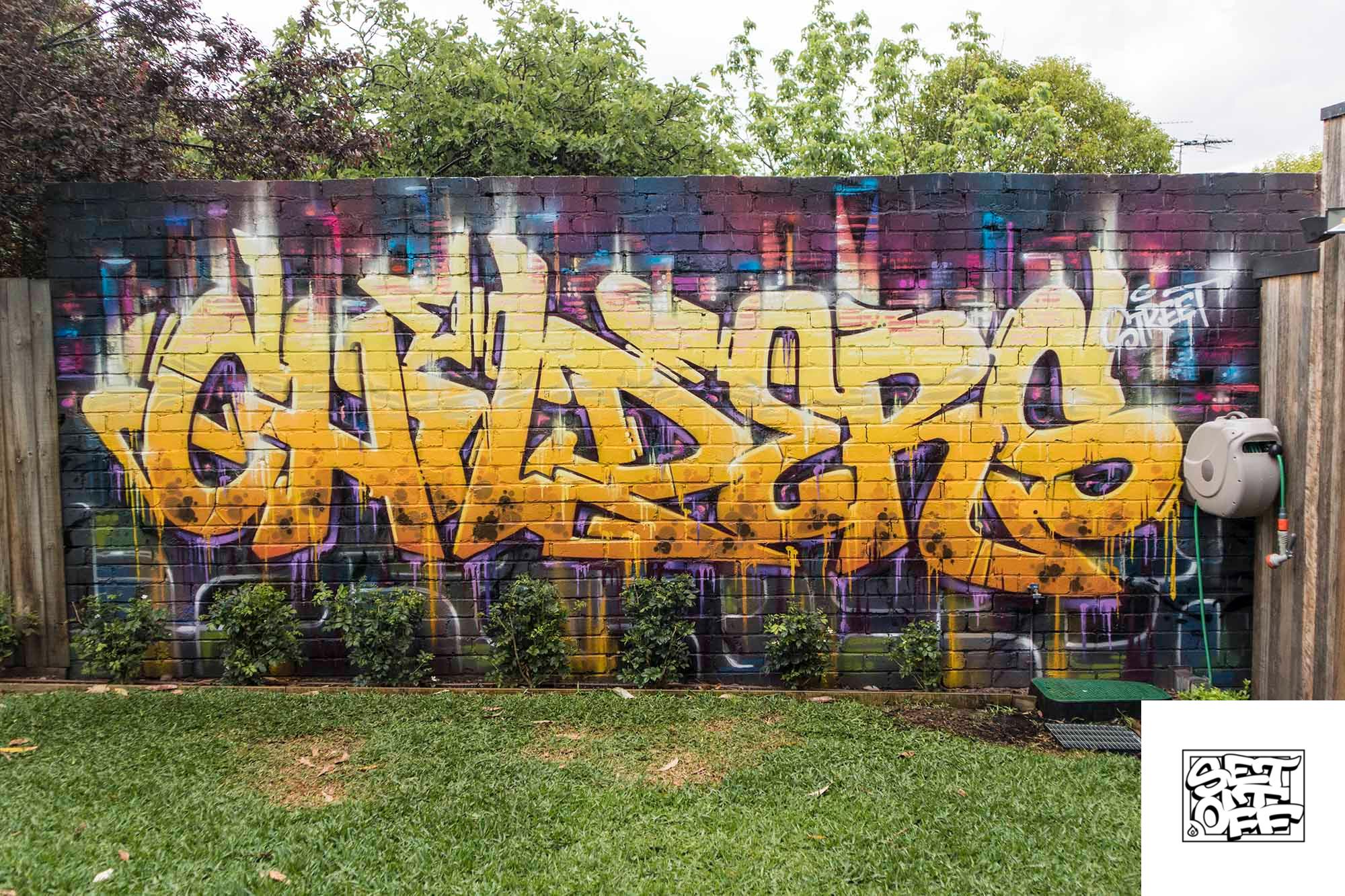 Mural artist Melbourne