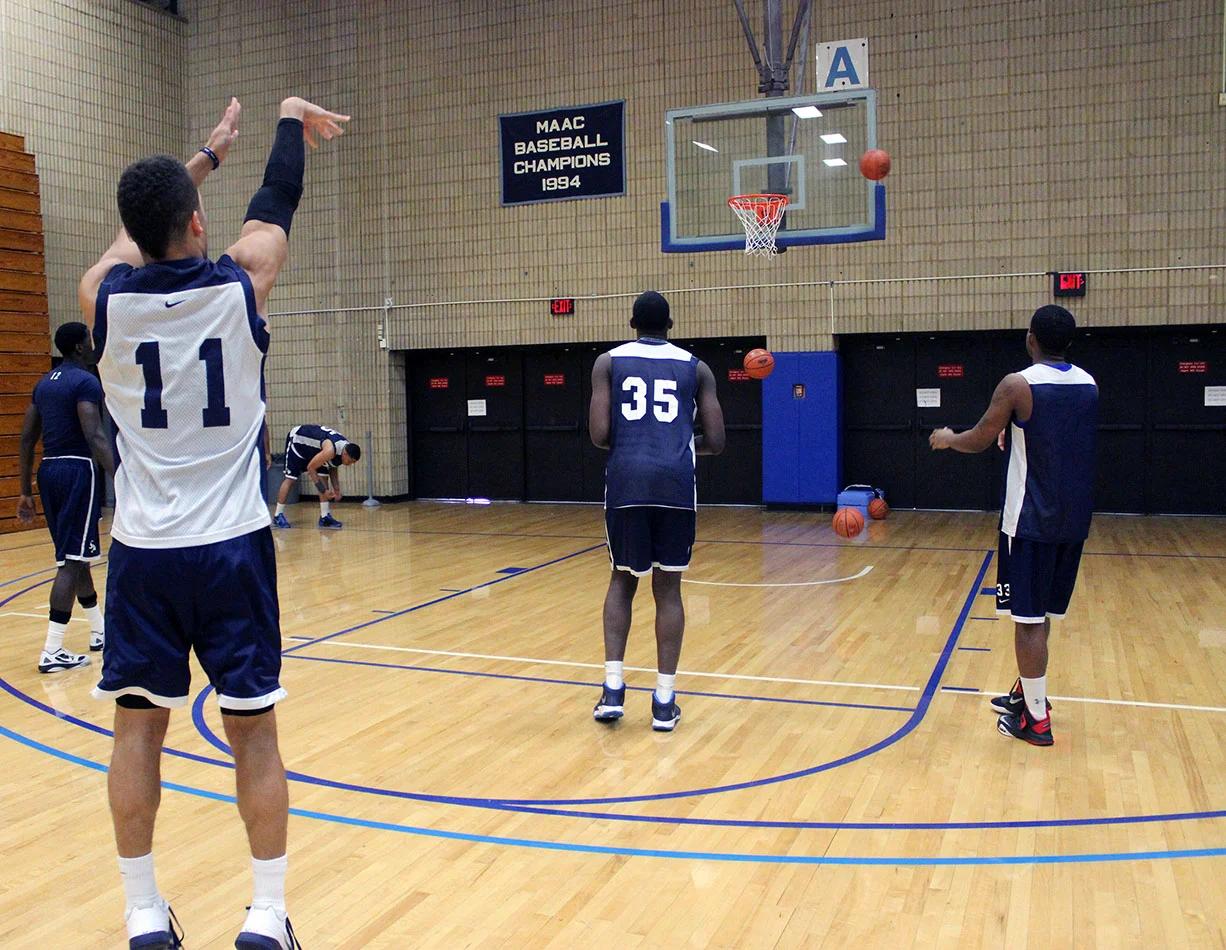 practice basketball shooting