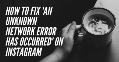 Instagram Unknown network error