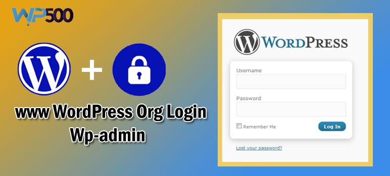www WordPress org login Wp-admin