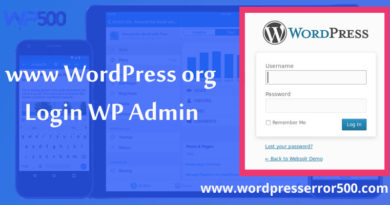 www WordPress org login Wp admin