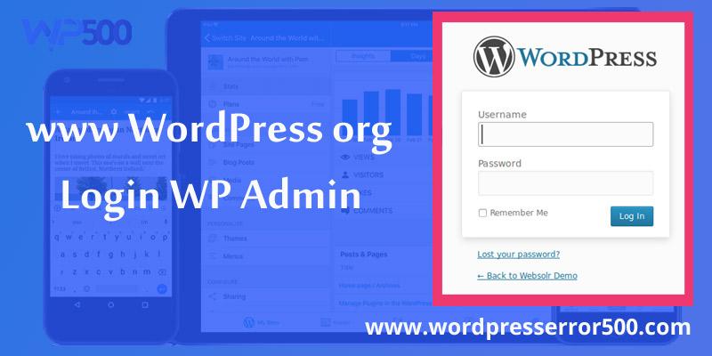 www WordPress org login Wp admin