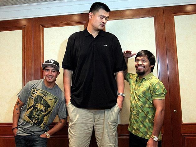 yao ming height in feet